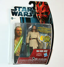 Star Wars Movie Heroes Figura: Qui-gon yinn (Mh18) con cañones de sable de luz