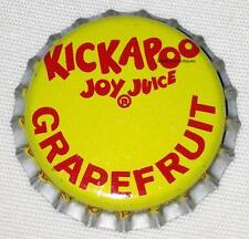 KICKAPOO Joy Juice Soda Crown NOS New Old Stock Unused New Condition GRAPEFRUIT