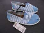 BNWT Older Girls/Ladies Sz 5 Rivers Doghouse Brand Blue/Stripes Canvas Shoes