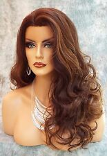 LACE FRONT Wig Layered Soft Long Sexy Graceful Curls COLOR FS4.27 USA SELL 478
