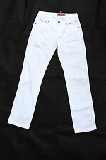 JECKERSON STRAIGHT STRETCH FIT WHITE JEANS Denim Trousers W26 Uk8 MADE IN ITALY