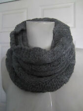 Gray knit cowl neck circle tube scarf New From Hot Topic