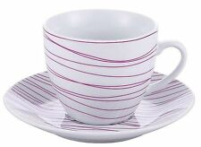 Kaiserhoff KH-11080005 Porcelain Tea Cups And Saucer Plate Set of 4 In Gift Box