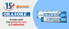3X ORASORE MOUTH ULCER PAIN RELIEF GEL