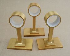 NEW 3 Antique Brass West Elm Oversized Metal Curtain Rod Holders Hardware FR SHP