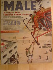 Male March 1960  Vintage Men's Adventure Magazine Woman Lottery Helicopter