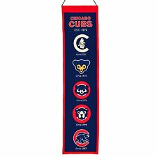 "Chicago Cubs Embroidered Wool Heritage 32"" Banner Pennant"