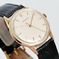 AUTHENTIC 1950s MOVADO 18K SOLID ROSE GOLD VINTAGE SWISS MANUAL WIND MEN WATCH