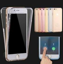 Shockproof Hybrid Back Front Rubber Clear Cover Case For iPhone 5 SE 6 6S Plus