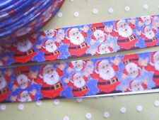 "1M x Santa Father Christmas GROSGRAIN RIBBON, Craft, Bow,Cake 25MM (1"") *UK*"