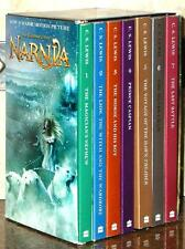 CHRONICLES OF NARNIA ~ MOVIE TIE IN BOOKS ~ C S LEWIS ~ SET OF 7 SC IN SLIPCASE