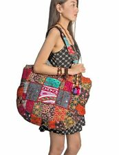 Hippie Handmade Shoulder Beach Bag Tote Boho Chic Patchwork Embroidered Purse