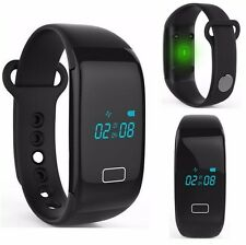 Bluetooth Smart Watch Wrist Bracelet Heart Rate Monitor For IPhone IOS Android