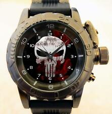 Punisher Skull Gothic New Premium Military Commando Army Style GT Watch