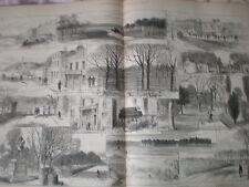 Afficher endroits clés phoenix park meurtres dublin irlande 1883 old print
