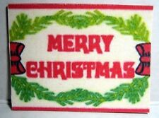 "Dollhouse Miniature Holiday Door Mat or Rug -""Merry Christmas"""