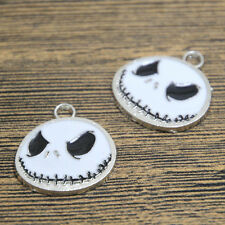 10pcs nightmare before christmas Charms Silver jack halloween pendant 24x26mm