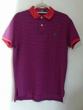 NEW RALPH LAUREN POLO Men's CUSTOM FIT RED Striped s/s Polo shirt M