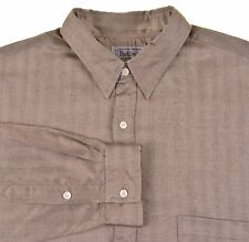 Paul Smith Sportswear Brown Herringbone Soft RAYON WOOL Casual Button Up Shirt 3