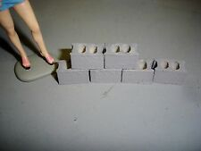 Concrete Blocks #2- for you garage/shop-6 each-smaller size  -1/18 Scale Diorama