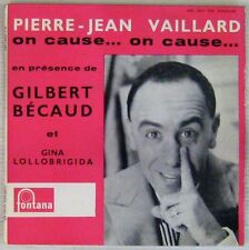 Pierre -Jean Vaillard 45 tours On cause...On cause ... 1959