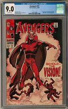 Avengers #57 CGC 9.0 (OW) 1st Vision KEY ISSUE John Buscema Art