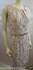 ALEX MARIE NINA  SHEATH LACE DRESS WITH BELT SIZE 6  NEW WITH TAG