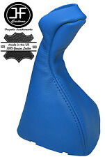 BLUE  REAL LEATHER MANUAL GEAR KNOB GAITER COVER FITS MERCEDES E CLASS W211