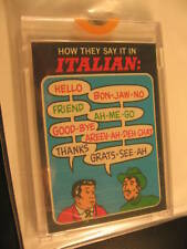 1970 Topps Flags of World Card How They Say in Italian