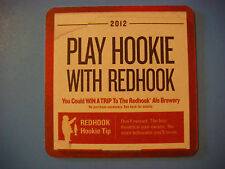 2012 Beer Coaster Bar Mat ~*~ REDHOOK Brewery Hookie Tip ~ Win A Trip to Brewery