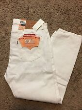 NWT MEN'S LEVI'S 501 CT White Denim JEANS 36X34 MSRP $78