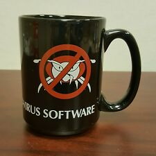 Vintage Dr Solomon's Anti-Virus Software Black Coffee Mug Acquired By McAfee