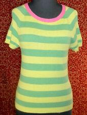 ABERCROMBIE & FITCH green striped multi-blend w/cashmere sweater L (T41-0DJ6G)