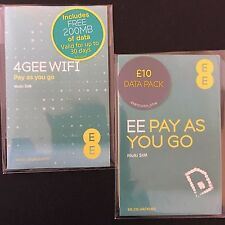 EE Pay As You Go £10 Data Pack Triple Cut SIM + 200MB Pre-Loaded Data SIM