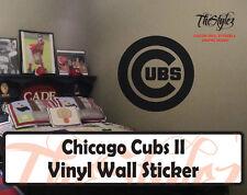 Chicago Cubs II Baseball Vinyl Wall Sticker