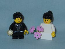 NEW LEGO WEDDING BLACK HAIR FLOWER GIRL AND RING BEARER MINIFIGURES, MINIFIGS