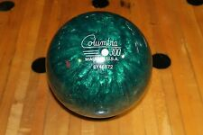 NEW RARE COLUMBIA 300 WHITE DOT BOWLING BALL PLASTIC 13.5# GREEN 2 PIECE NO BOX