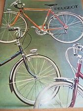 dépliant Peugeot vélo ( ref 8 )