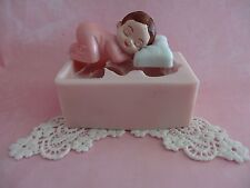 Baby with Pillow silicone mold fondant cake decorating APPROVED FOR FOOD