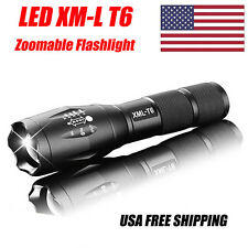 Zoomable Army Tactical lamp 3000 Lumen LED Military Light Flashlight Torch AAA