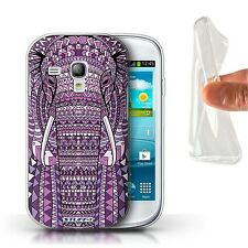 STUFF4 Gel/TPU Case/Cover for Samsung Galaxy S3 Mini/Aztec Animal Design