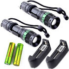 2x UltraFire 5000LM Tactical Zoom Focus T6 LED Flashlight +18650 +Smart Charger