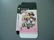 Ar tonelico Melody of Elemia Empty Display Box  NEW  PS2     No Game