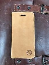 Premium Brown Genuine Leather Wallet Flip Custodia Cover per iPhone 6 & 6S