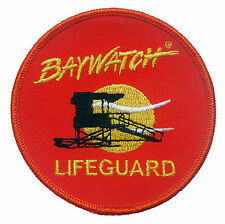 """Baywatch 3"""" large iron on badge / patch. Fancy dress costume."""