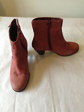 Camper Womens pink suede cowboy boots size 39/6