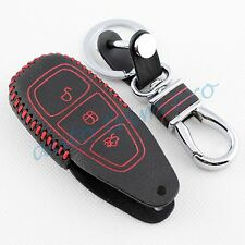 Leather Key Case Chain Holder Bag For Ford Focus Escape Kuga Fiesta Accessories