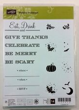 Stampin' Up! Holiday Invitation Photopolymer Stamp Christmas Halloween Thanks