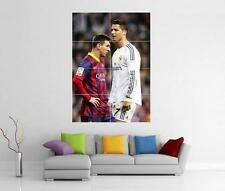 LIONEL MESSI AND CRISTIANO RONALDO GIANT WALL ART XL PRINT PHOTO POSTER