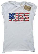 AMPLIFIED KISS USA Stars Stripes Tunika Rock Star Vintage ViP T-Shirt g.XS 34